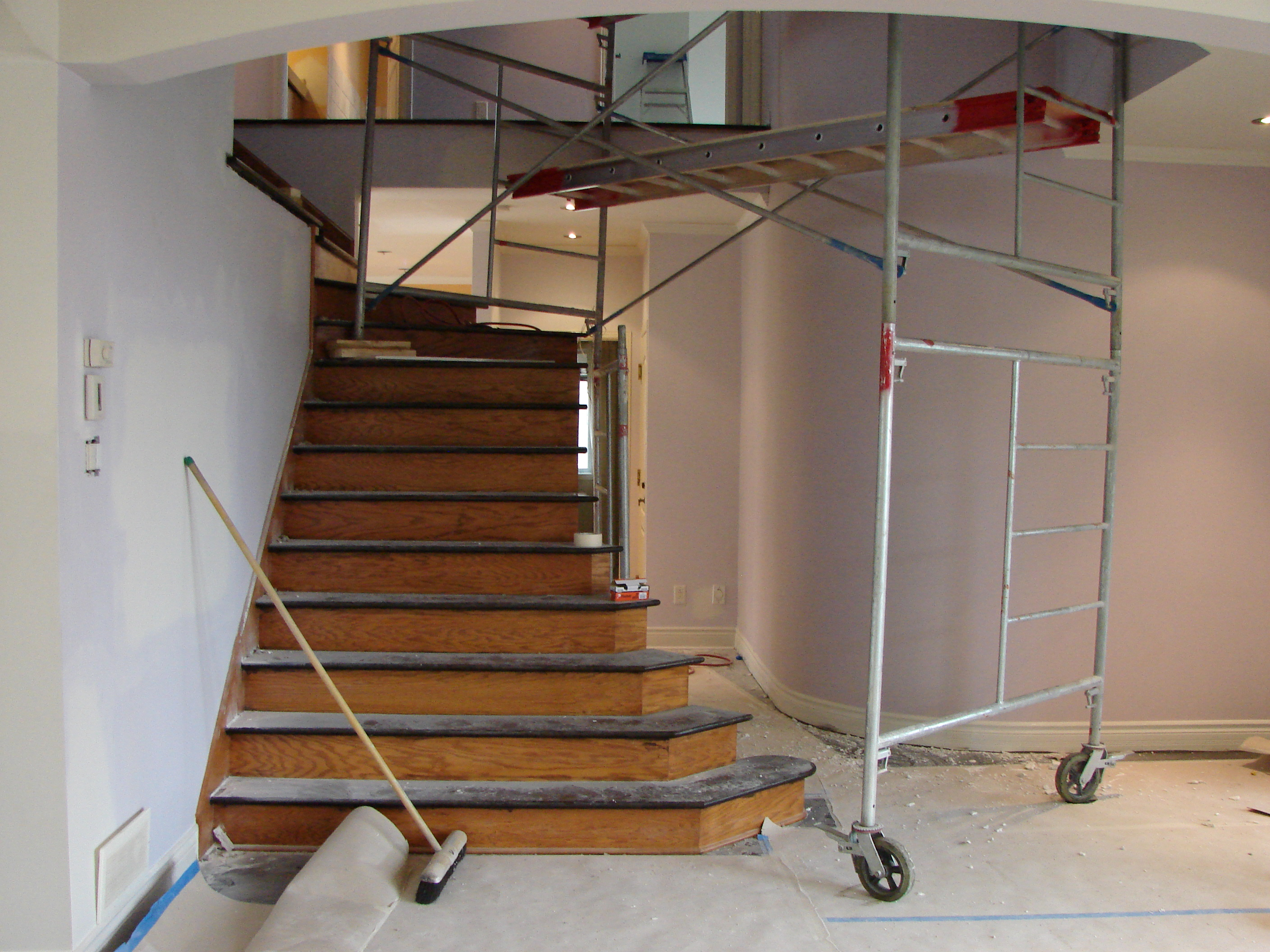 Stairs Before - Interiror Decorating Montreal